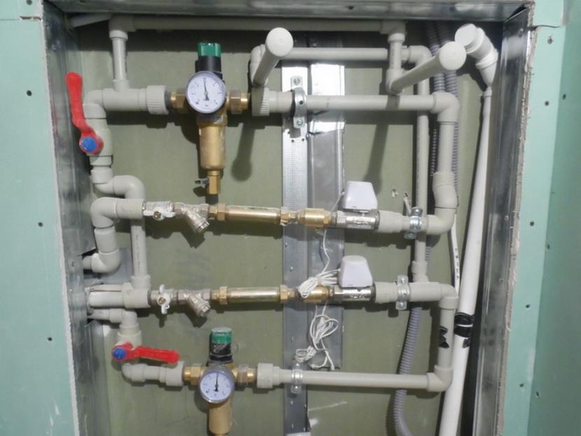 Система водоснабжения из пластиковых труб