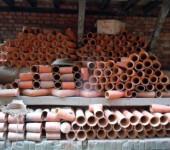 Штабель из керамических труб