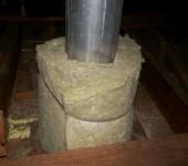 Утепление дымохода базальтовой ватой