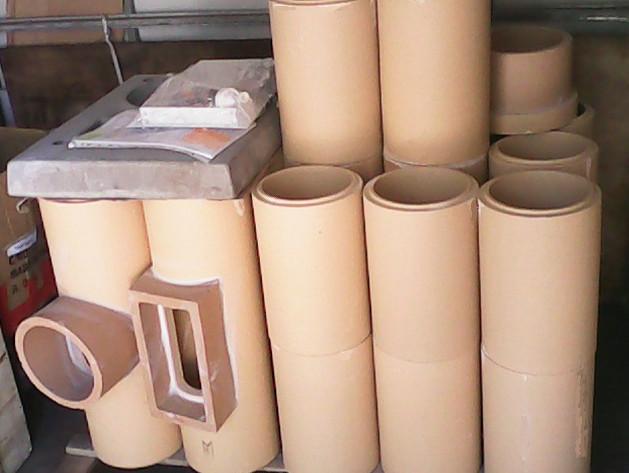 Трубы и тройники для дымохода из керамики