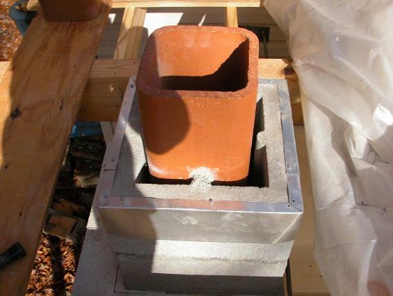 Керамический дымоход квадратного сечения