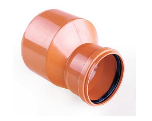 переходник трубы ПВХ с уплотнительным кольцом в раструбе