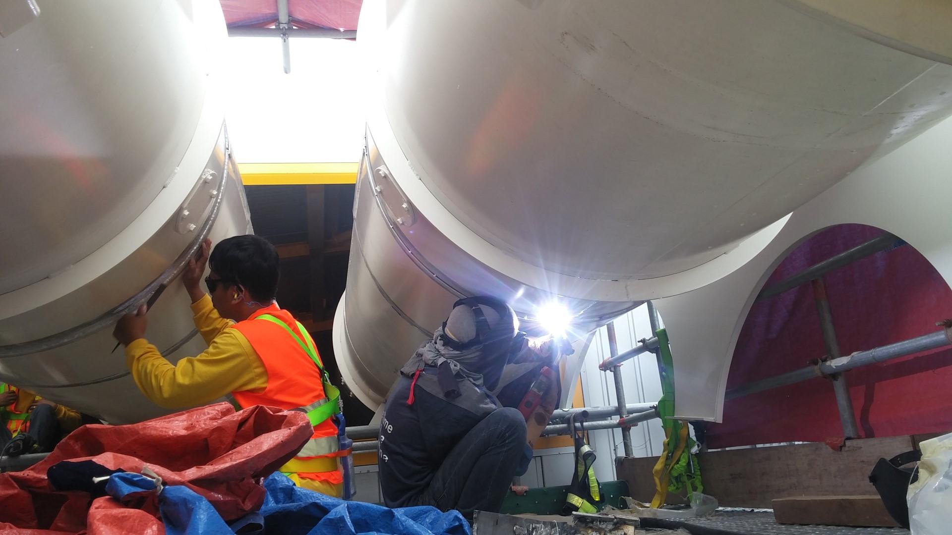 Сварка неповоротной трубы большого диаметра
